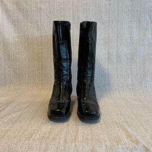 La Candienne Boots Black Patent Leather 7